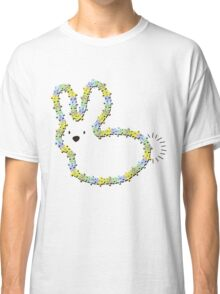 Blue Jigsaw Whimsical Baby Bunny Classic T-Shirt