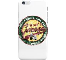 dad's garage  iPhone Case/Skin