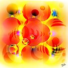 Sky Lanterns Abstract by Grant Wilson