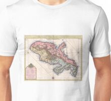Vintage Map of Martinique Island (1742) Unisex T-Shirt