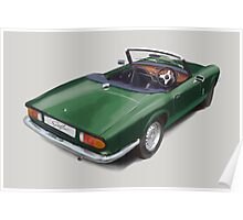Triumph Spitfire Racing Green Poster