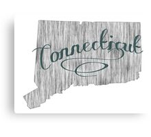Connecticut State Typography Canvas Print