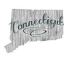 Connecticut State Typography Photographic Print