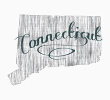 Connecticut State Typography Kids Tee