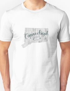 Connecticut State Typography T-Shirt
