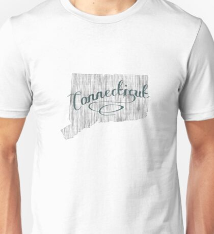 Connecticut State Typography Unisex T-Shirt