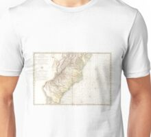 Vintage Map of The Southern Colonies (1778) Unisex T-Shirt