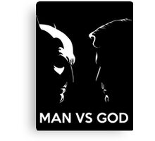 Man Vs God Canvas Print