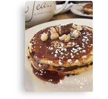 Good Old Fashioned Pancakes and Tea Canvas Print