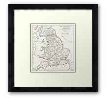 Vintage Map of England (1794) Framed Print