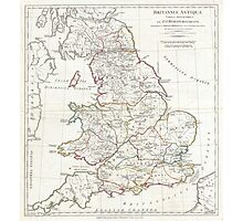 Vintage Map of England (1794) Photographic Print