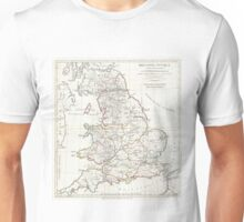 Vintage Map of England (1794) Unisex T-Shirt