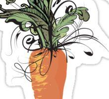 floral carrot Sticker