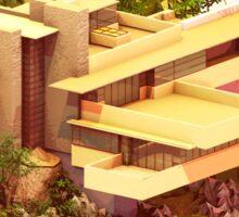 Architecture - Frank Lloyd Wright - Falling Water Sticker