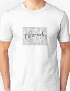 Colorado State Typography T-Shirt