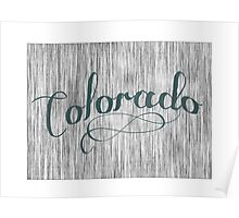 Colorado State Typography Poster