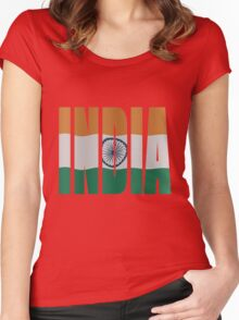 India flag Women's Fitted Scoop T-Shirt