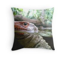 Reptile Close Up Throw Pillow