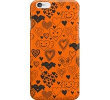 orange hearts iPhone Case/Skin