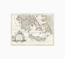 Vintage Map of Southern Greece (1794) Unisex T-Shirt