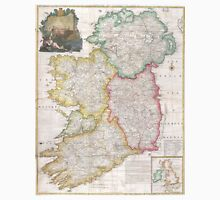 Vintage Map of Ireland (1794) Unisex T-Shirt