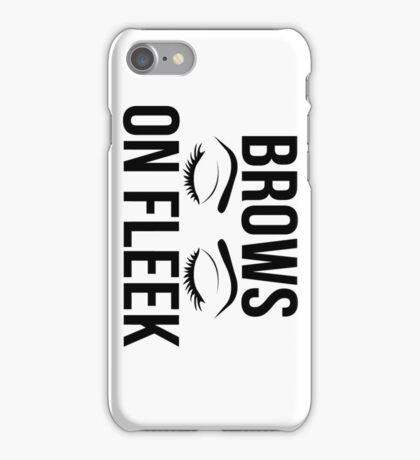 Brows On Fleek (Black) iPhone Case/Skin
