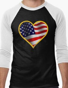 USA Men's Baseball ¾ T-Shirt