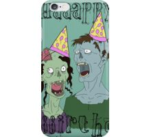 Zombie Party of two iPhone Case/Skin