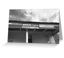 March Town Post Office Greeting Card
