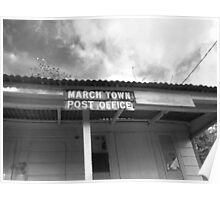 March Town Post Office Poster