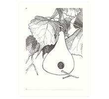 Gourd & Cottonwood Art Print