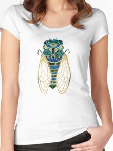 Cicada Women's Fitted Scoop T-Shirt