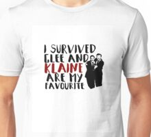 I survived Glee and Klaine are my favourite Unisex T-Shirt