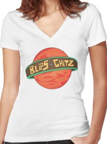 Rick & Morty - Blips and Chitz Women's Fitted V-Neck T-Shirt