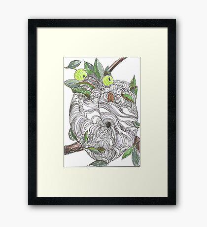 Paper Nest Framed Print