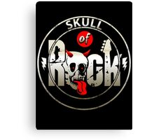 Skull Of Rock (Custom Retro Style) Canvas Print