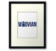 The Who in Vian - Whovian Framed Print