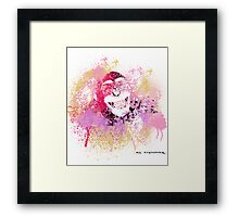 Cool Monkey graffiti Street Art Framed Print