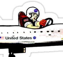 Go, Going, Gone! Space Shuttle! Sticker