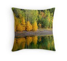 Aspens on the Lake Throw Pillow