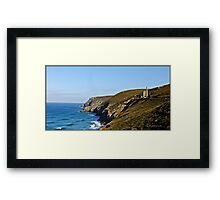 The meeting of land and sea. Framed Print