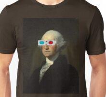 George Wahington enjoys 3D Street Art Unisex T-Shirt