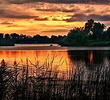 Sunset On Horseshoe Pond by Kathy Weaver