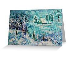 Snow scene 2 Greeting Card