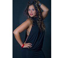 Woman in studio Photographic Print
