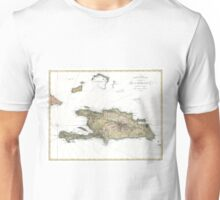 Vintage Map of St. Domingue (1802) Unisex T-Shirt