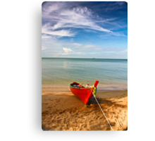 Serenity - Little Red Boat Canvas Print