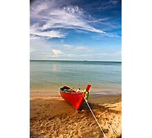 Serenity - Little Red Boat Photographic Print
