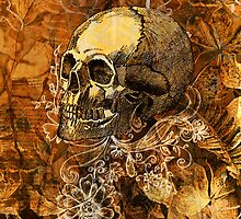 Skull and Flowers 2 by lab80