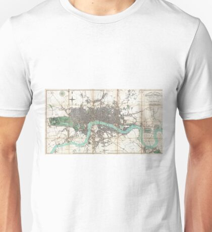 Vintage Map of London England (1806) Unisex T-Shirt